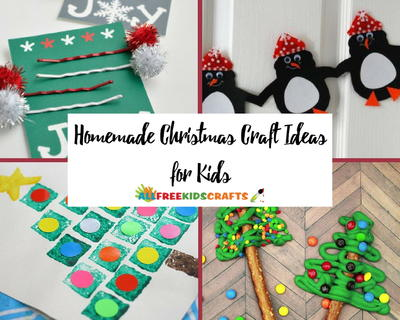 55 Homemade Christmas Craft Ideas for Kids  sc 1 st  AllFreeKidsCrafts & 60+ Homemade Christmas Craft Ideas for Kids | AllFreeKidsCrafts.com