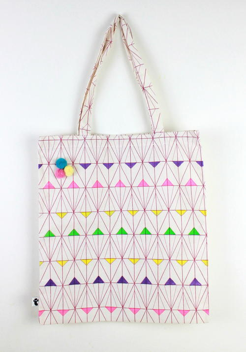 Geometric Painted Tote Bag