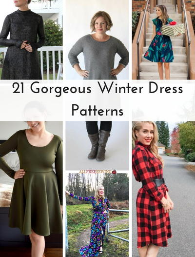 21 Gorgeous Winter Dress Patterns
