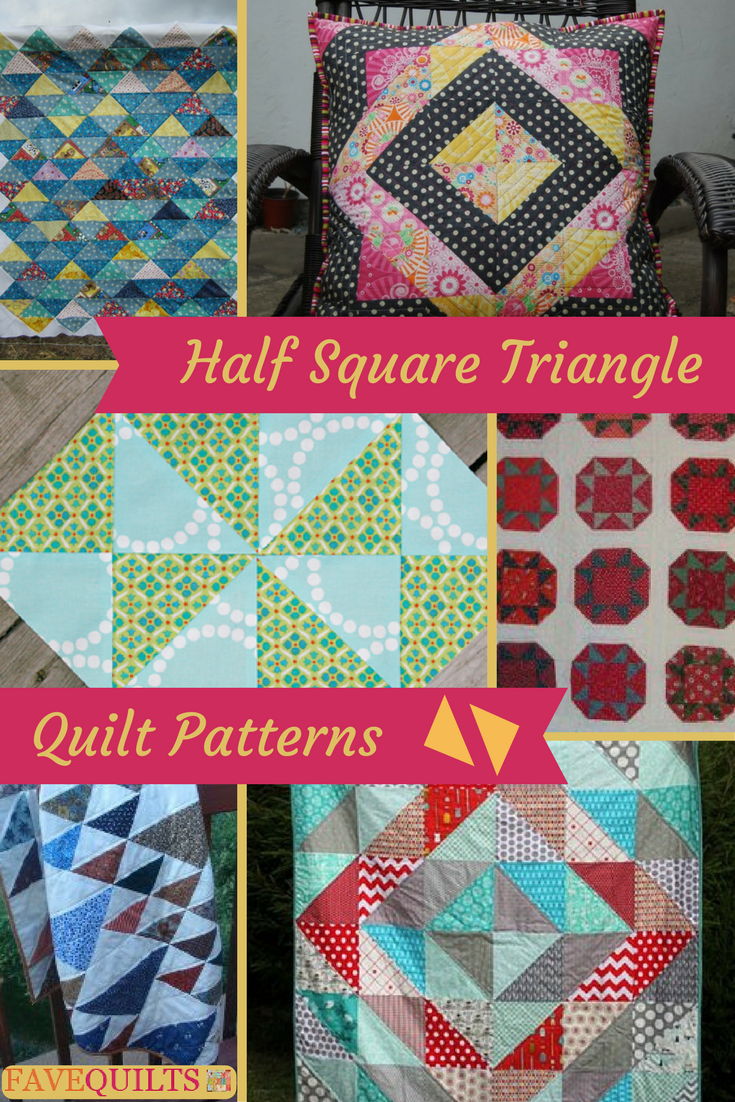 25 Half Square Triangle Quilt Patterns | FaveQuilts.com : half square triangle quilt - Adamdwight.com