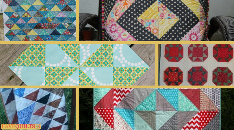 25 Half Square Triangle Quilt Patterns | FaveQuilts.com : triangle quilt patterns - Adamdwight.com