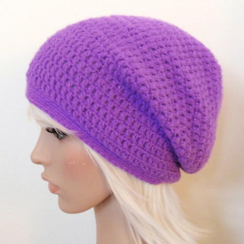 Easy Crochet Slouchy Beanie AllFreeCrochet Custom Free Crochet Slouchy Hat Patterns