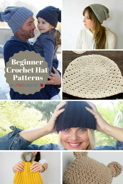 50 Free Crochet Hat Patterns for Beginners | AllFreeCrochet.com