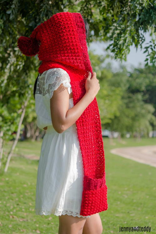 The Red Riding Hood Pocket Scarf