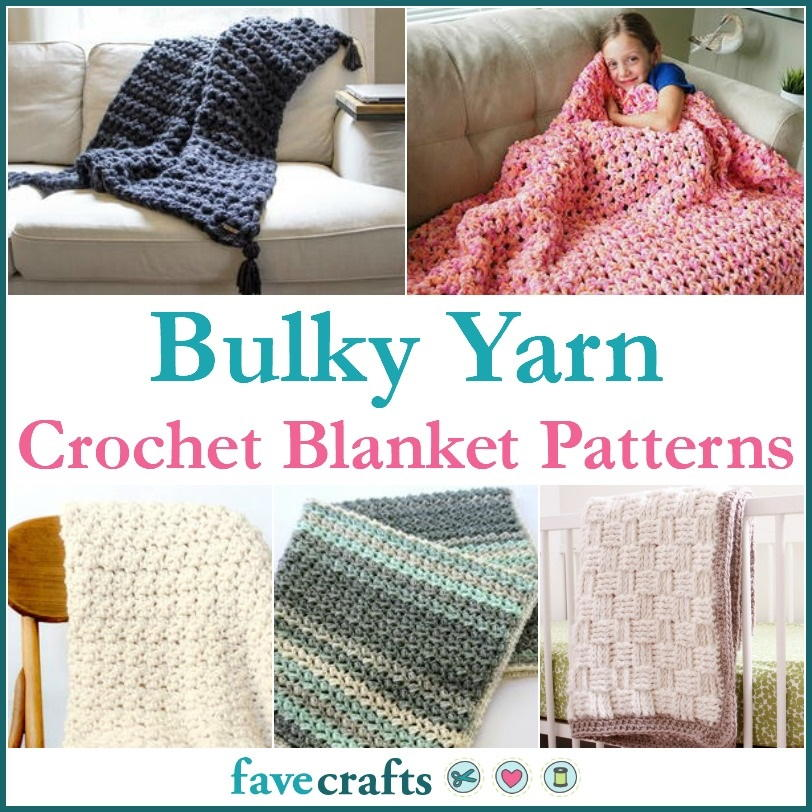19 Bulky Yarn Crochet Blanket Patterns | FaveCrafts.com