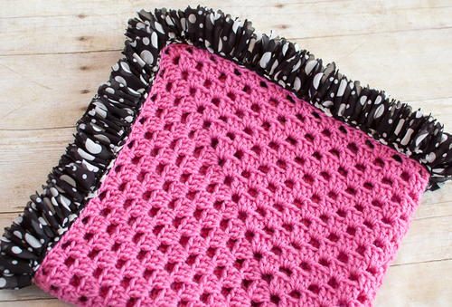 Sweet Ruffle Edged Crochet Baby Blanket