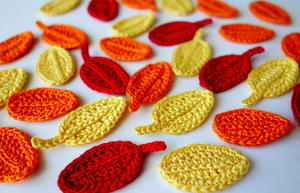 Easy Crochet Leaves