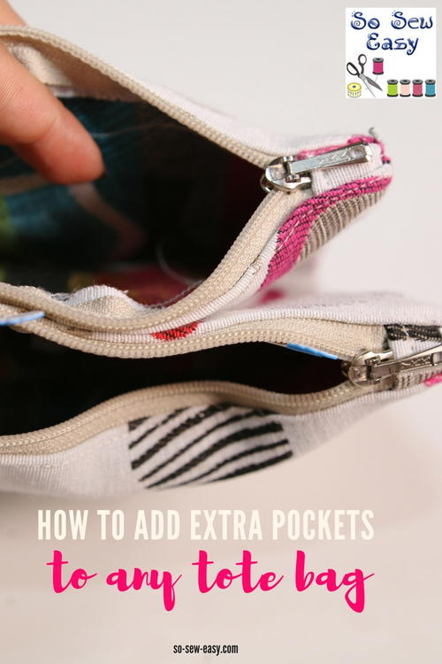 How to Add Extra Pockets to Tote Bags