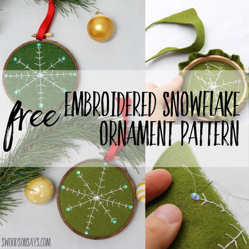 Embroidered Snowflake Ornament Tutorial