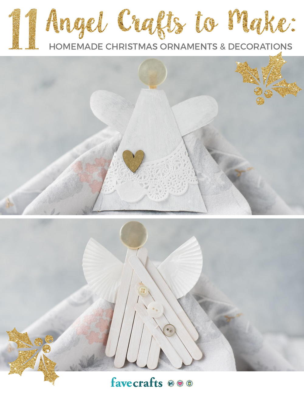 11 angel crafts to make homemade christmas ornaments decorations free ebook - Handmade Angels Christmas Decorations