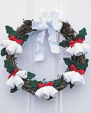 Christmas Bells Crocheted Wreath