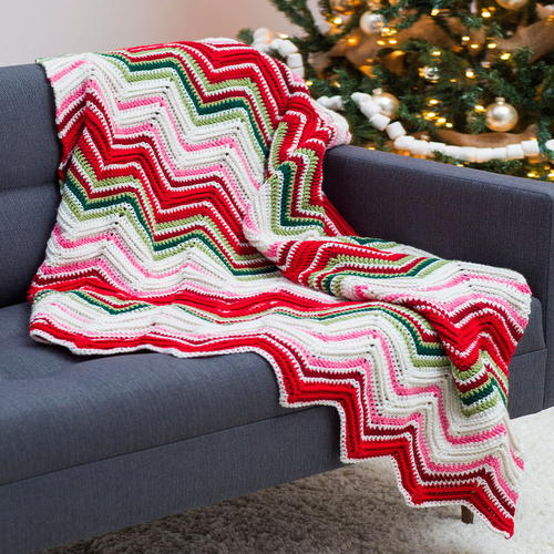 Ripples of Joy Christmas Afghan Crochet Pattern