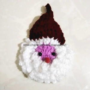 Easy Crochet Santa Ornament