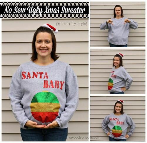 diy maternity ugly christmas sweater - Maternity Ugly Christmas Sweater