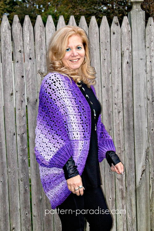 Snuggler Cardigan Crochet Sweater Cocoon
