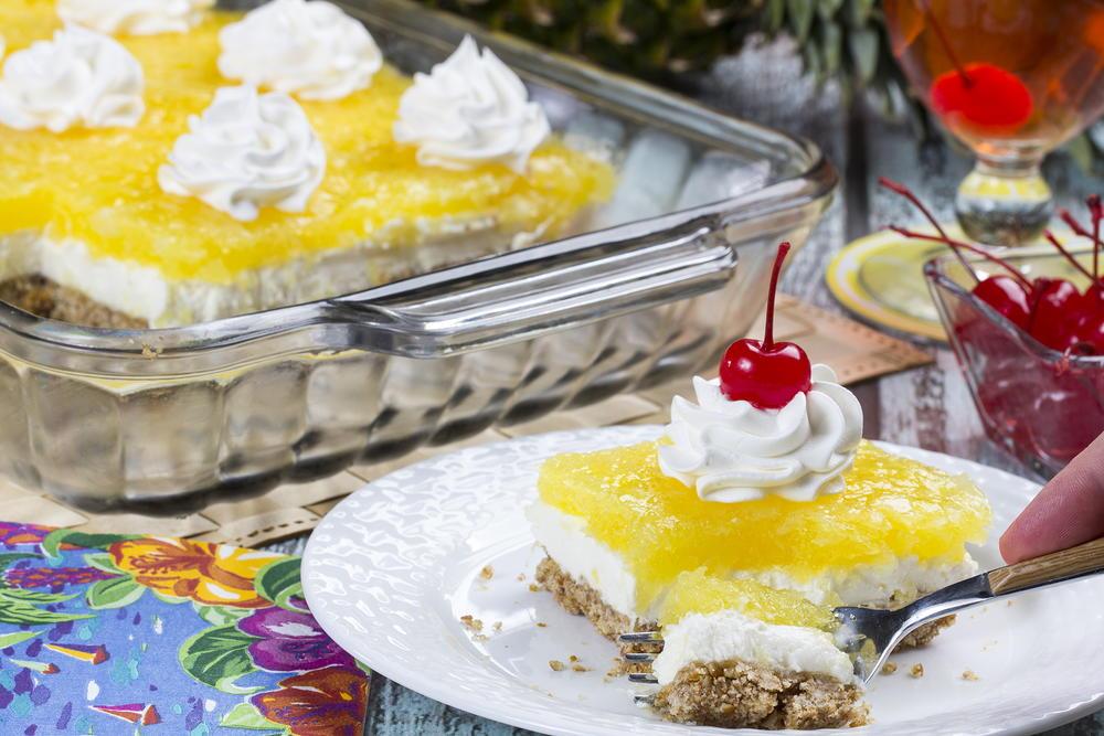 Pineapple Pretzel Squares Mrfood Com
