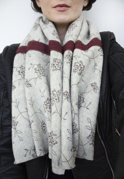 Vest To Scarf Refashion