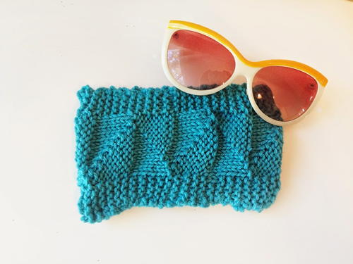 Knit Triangle Stitch Sunglasses Case