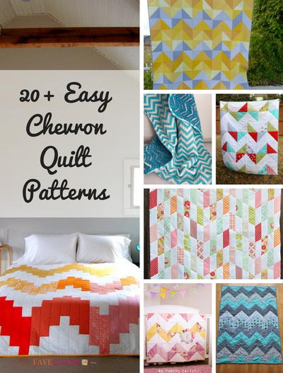 20 Easy Chevron Quilt Patterns Favequilts Com