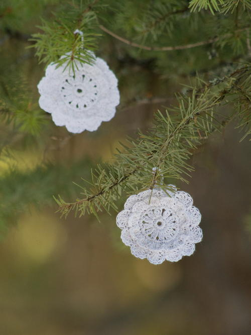 victorian blush snowflake vintage ornaments and gift tags