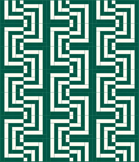 Glitch in the Matrix Log Cabin Quilt