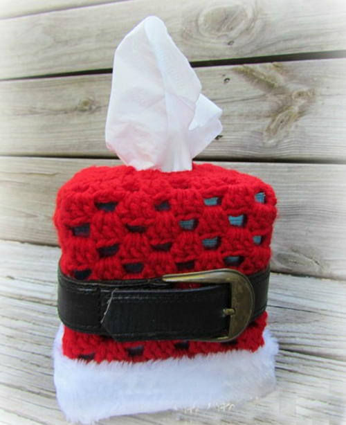 Crochet Santa Tissue Box Cover Pattern Allfreechristmascrafts
