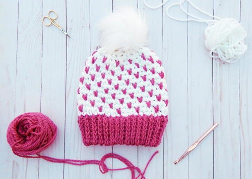 Super Quick Fair Isle Crochet Beanie | AllFreeCrochet.com