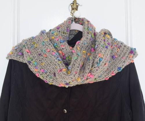 Knit Fire Beads Scarf Allfreeknitting