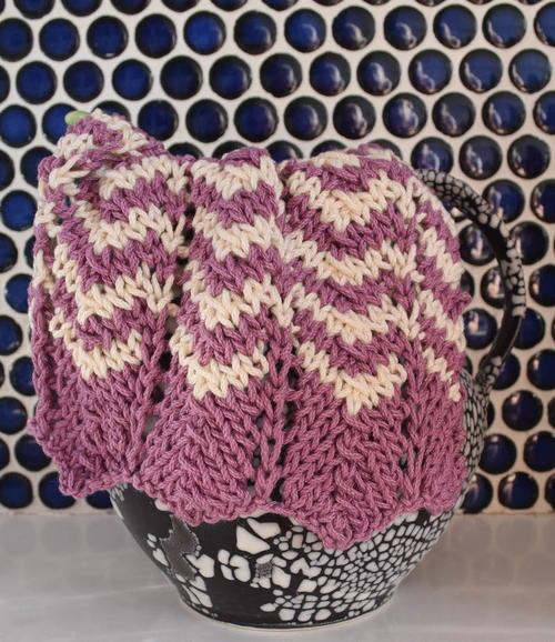 Simple Knit Chevron Dishcloth Allfreeknitting