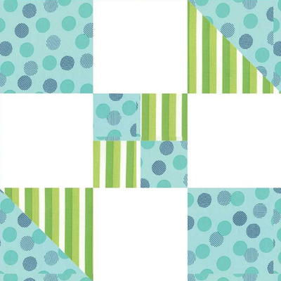 Hour Glass Quilt Block Pattern