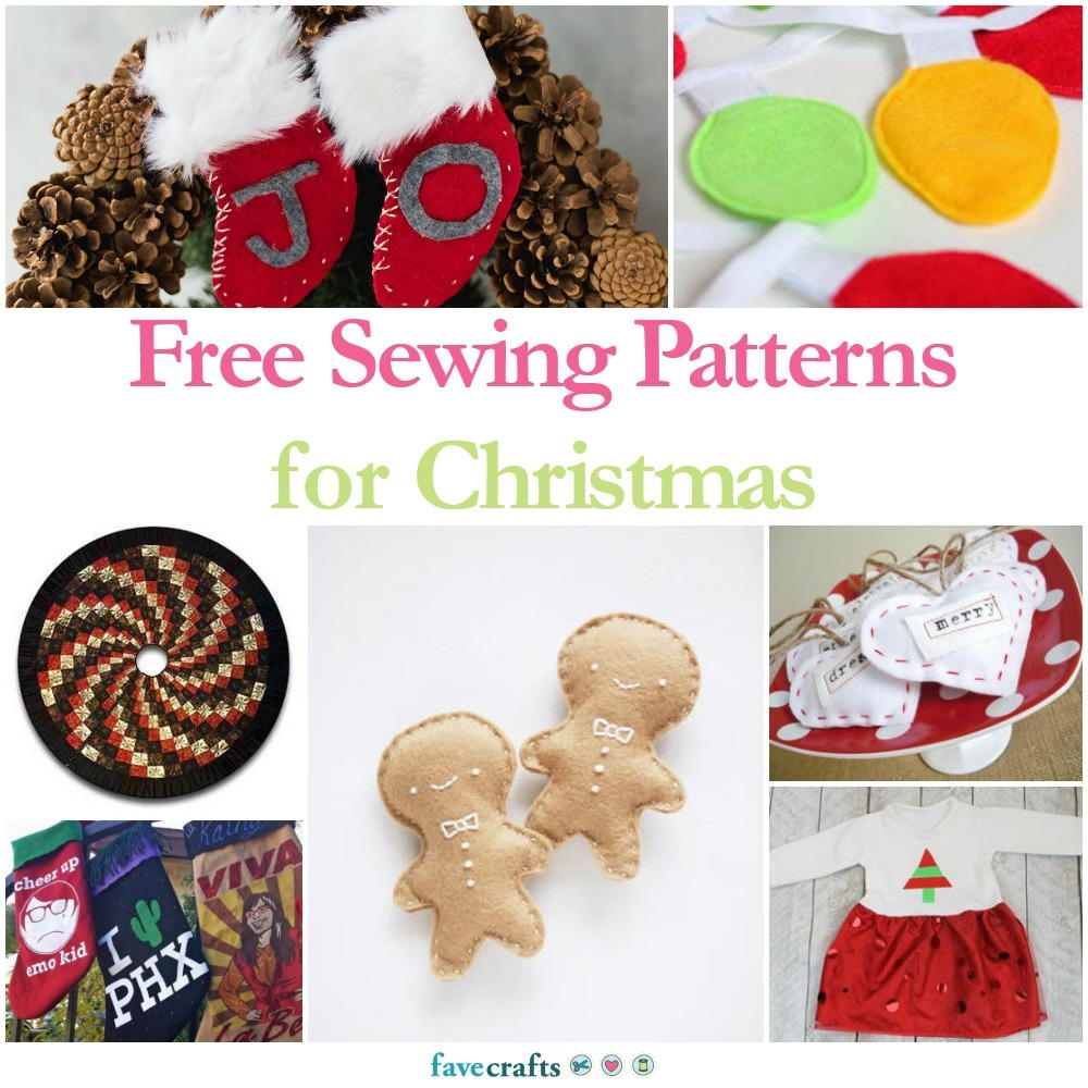 36 Free Sewing Patterns for Christmas | FaveCrafts.com