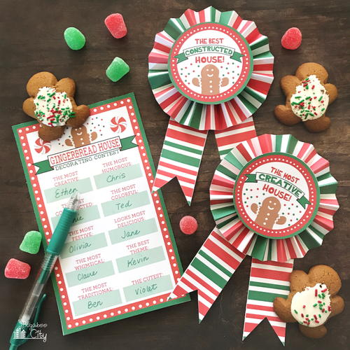 Christmas Cookie Swap Award Ribbons