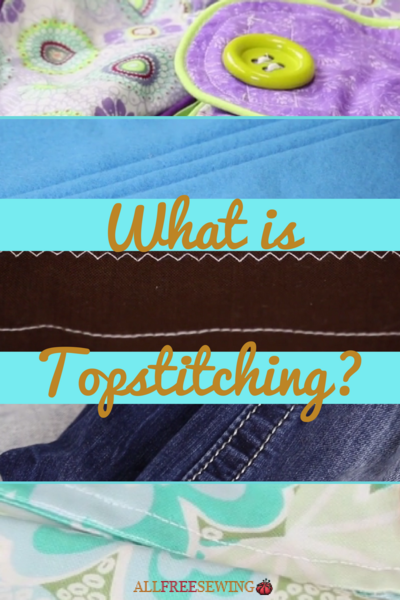 What is Topstitching  How to Topstitch