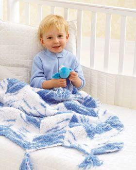 Knit Chevron Baby Blanket Pattern | FaveCrafts.com