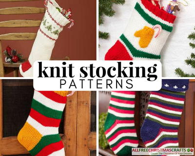20 Old Fashioned Knit Stocking Patterns Allfreechristmascrafts