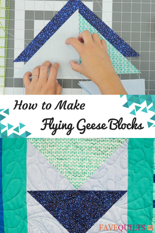 How To Make Flying Geese Blocks Favequilts