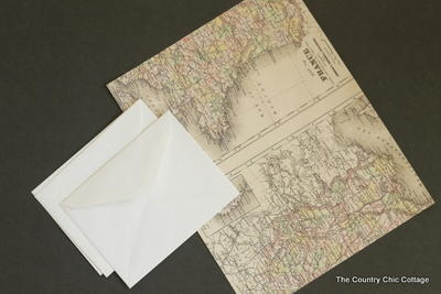 DIY Map-Lined Envelopes and Seals