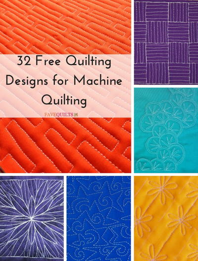 32 Free Quilting Designs for Machine Quilting | FaveQuilts.com