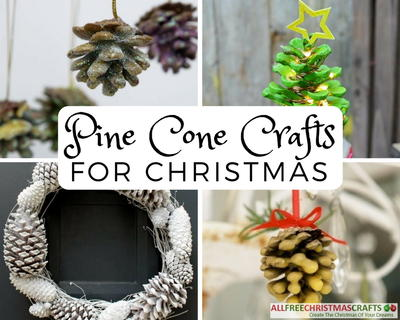 22 pine cone crafts for christmas for Pine cone christmas ornaments crafts