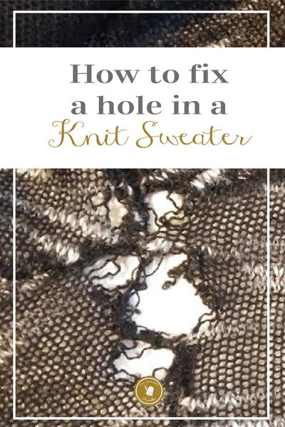How to Fix Holes in Sweaters