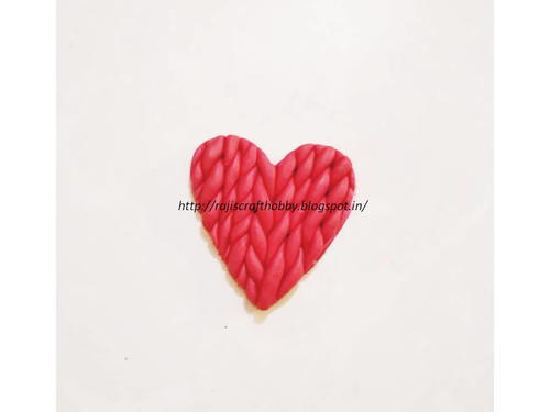 DIY Valentine Clay Heart