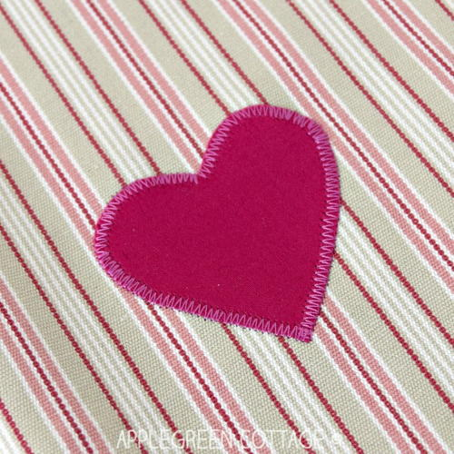 Easy DIY Heart Applique