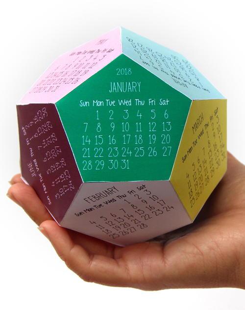 make a unique 3d 2018 calendar diyideacenter com