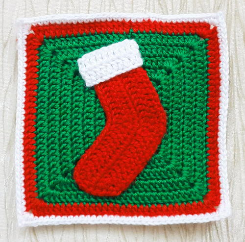 Christmas Stocking Granny Square