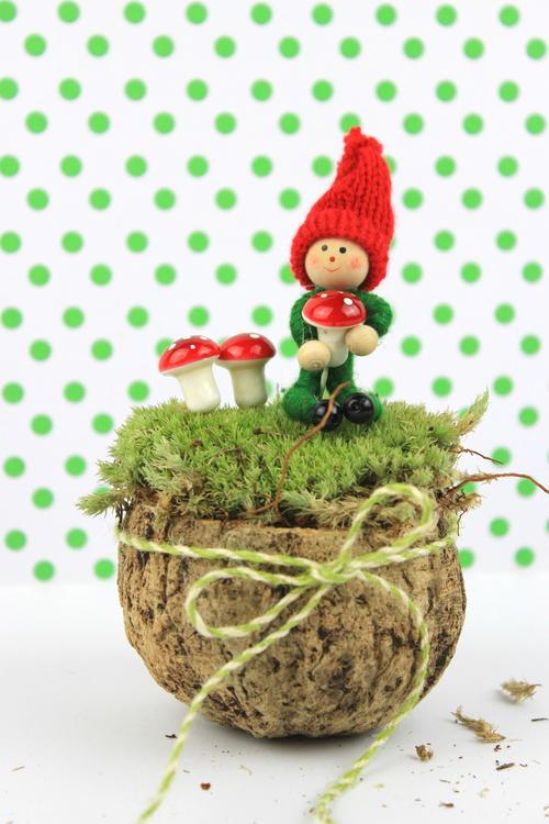 Elf with Mushrooms Woodland Decor