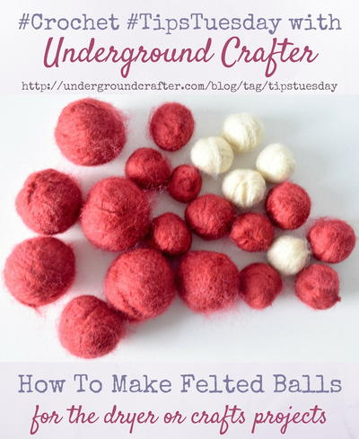 DIY Felted Balls Tutorial