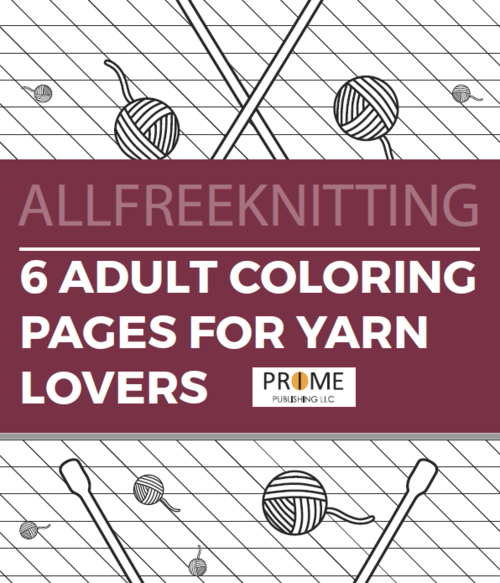 6 Adult Coloring Pages For Yarn Lovers