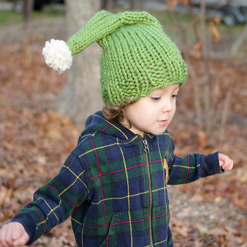 Cheerful Elf Knit Hat