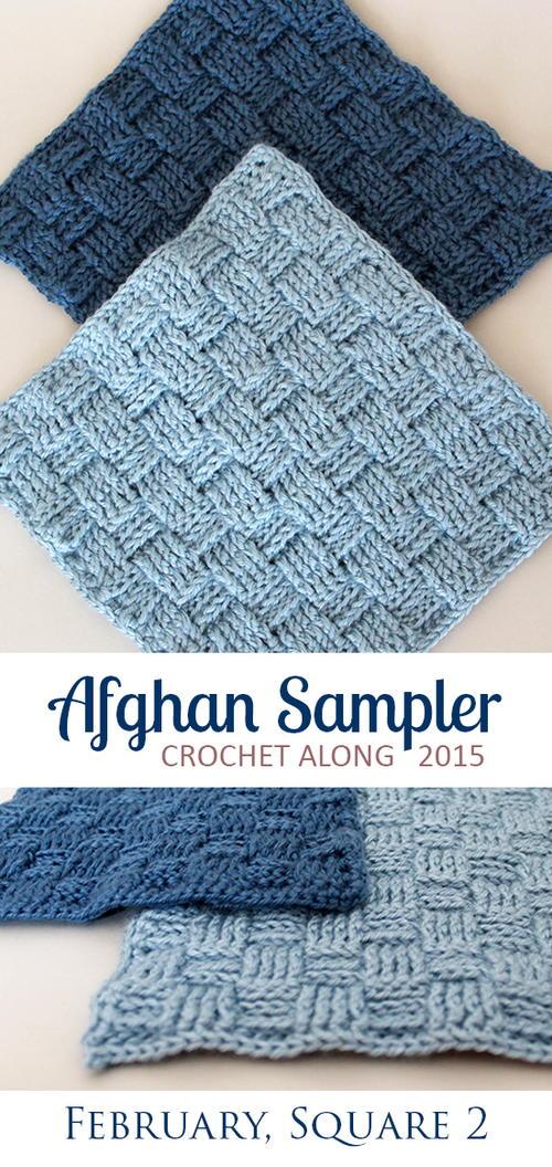 Afghan Sampler Square 2 Basket Weave Allfreecrochet
