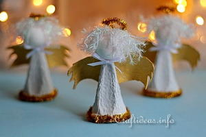 Heavenly Upcycled Egg Carton Christmas Angels